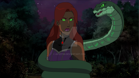 Request - Starfire wrapped in snake by ag121798