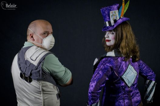 Mad Moxxi and Dr. Zed - Rear View by LadyCrankypants