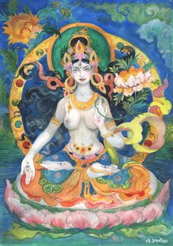 White Tara (aquarelle) by tooniegirl