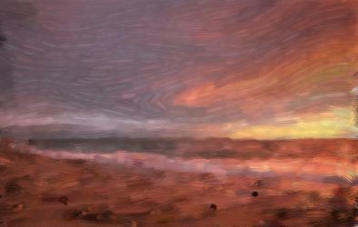 Beach Sunset Impressionism by Ander-Cesteros