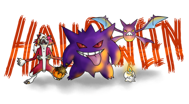 Happy Halloween Pokemon ! by Lolotie