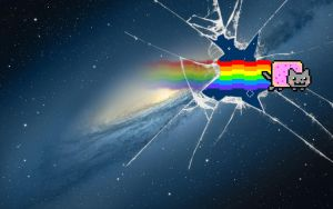 ''Nyan Cat Mountain Lion' Wallpaper by Jayro-Jones