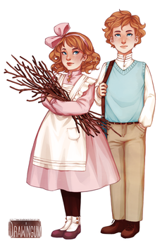 Margot and Jean by drawingum