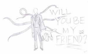 Slenderman: Will you be my Friend? by otiaKaito