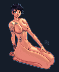 Pinup - Tattooed by curantodraws