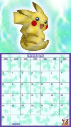 Pokemon 20th Anniversary Calender - January 2016 by AusLove