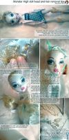 Monster High doll hair and head removal tutorial by AshGUTZ