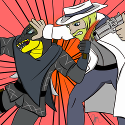 Asmo-vs-Wolfgang by ZodiacEclipse