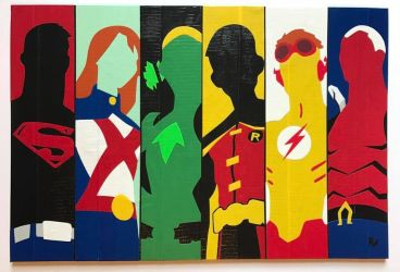 Young Justice Duct Tape Art by DuctTapeDesigns