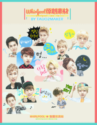 EXO Kakao talk render pack png by tauotauomaker