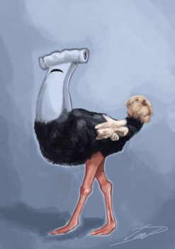 Hammerhead Ostrich by laughinguy