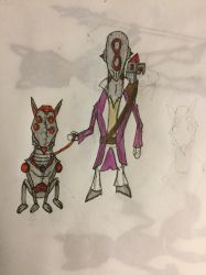 Eight and Blood Hound by Doctoreye