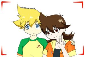 Hilary and Maxie, Beyblade G Revolution by blitzkriegyudith