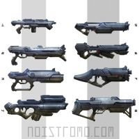 Sci-Fi weapons, sketches. by noistromo