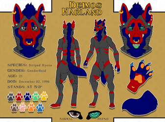 Commissions: Deimos Harland - reference by SaQe