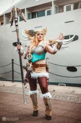 Valkyrie Mercy Overwatch Cosplay by LittleClockworkDoll