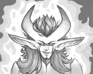 Very Angry Marshmallow (Nib Test) by dracohazart