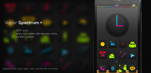 Vapor Spectrum Icons pack for Android Launchers by R3D-X7