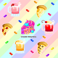 Pixel Pizza Party by ShadedPenumbra