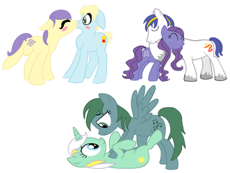 Couples by MoonGazerThePony
