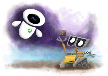 Walle and Eve by xanderthurteen