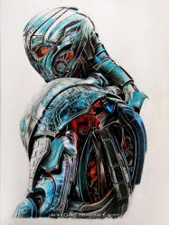 Ultron - Color Pencil Drawing by Ankredible