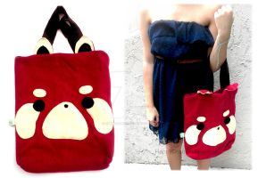 Red Panda Tote by CosmiCosmos