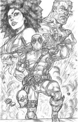 Deadpool 2 pinup by CdubbArt