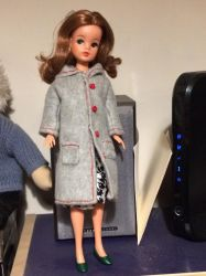 New winter coat for an old doll. by Louvan