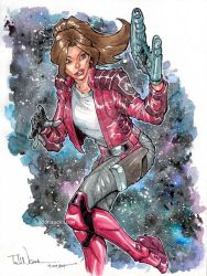 Kitty Pryde as Star Lady watercolor by ToddNauck