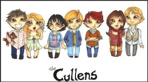 The ChibiCullens by Llallira