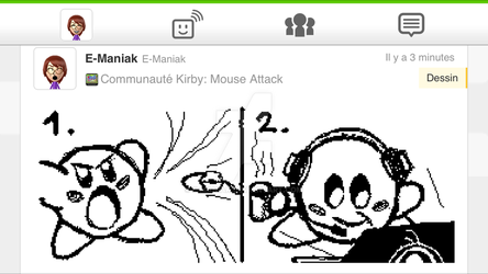 Kirby mouse attack by E-maniak
