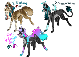 Dog Adopts! 45 Points Each- CLOSED by H0wladopts