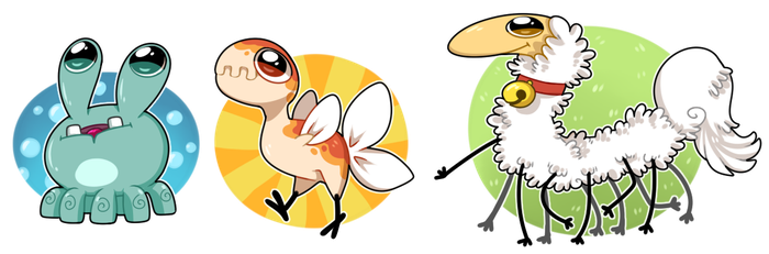Chibi Gurp, Puckoo, Spoodle by Nestly