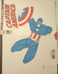 Captain America Fan Cover Art by junhb74