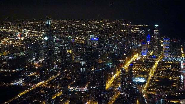 Chicago by Night by vmulligan