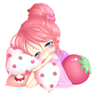Let Me Sleep... (with strawberries). by TanyaKi
