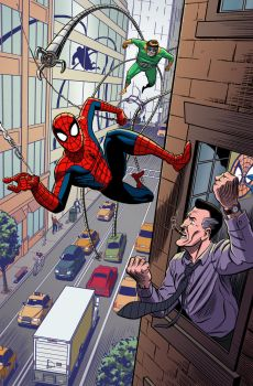 Spider-Man pin-up COLORS by mistermuck