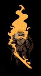 Burning Knight by jollyjack