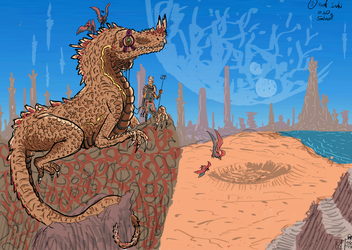 Desert Lizard_Reactivation by Slugozaur