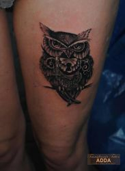 owl tattoo by Adda by transilvaniatattoo66