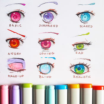 +Manga Eye Expressions+ by larienne