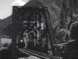 Western Pacific 323 Crossing Bridge by PRR8157