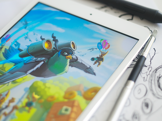 Birds iOS Game Illustration by Ramotion