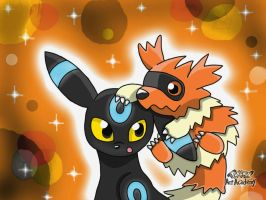 Shiny Umbreon and Shiny Zigzagoon