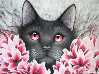 Inside Depression (red flower cat) by End-of-Horizon
