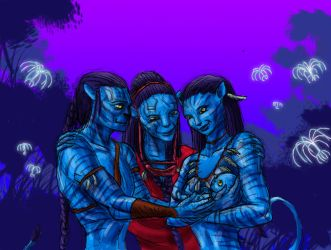 Jake and Neytiri have a baby (colorized) by Beb156