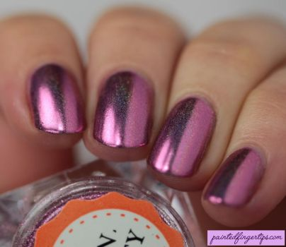 Angled-bps-nail-powder-holo-magenta by Painted-Fingertips