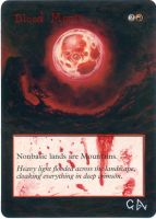 MTG Altered Card_Blood Moon by GhostArm1911