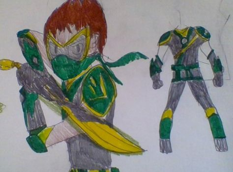 green ninja(celestials uniform) by soundbreaker1235